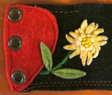 embroidered felt belt