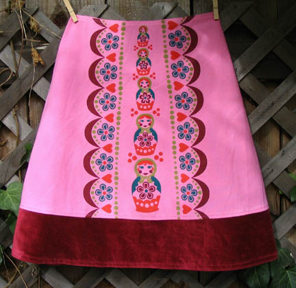 pink matryoshka skirt