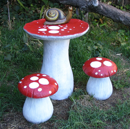 painted mushroom furniture!