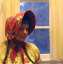 oilcloth apron bonnet