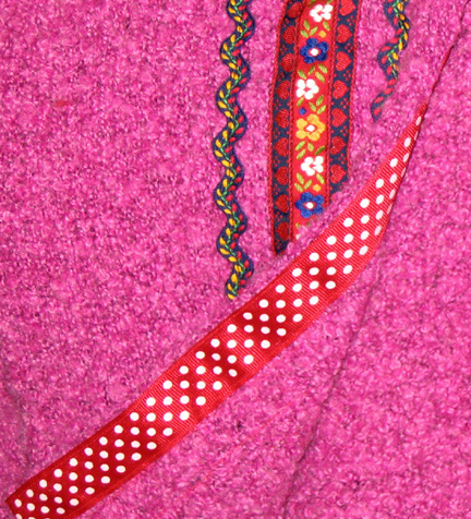 grosgrain ribbon inside