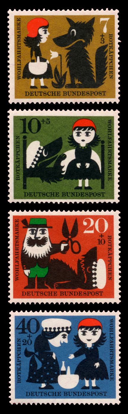 red riding hood stamp germany