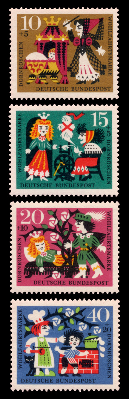sleeping beauty stamp germany