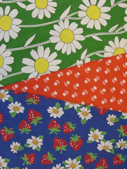 awesome vintage fabric finds for summer skirts
