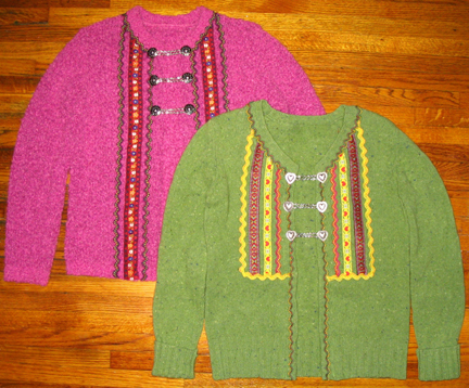fun and festive alpine sweaters!