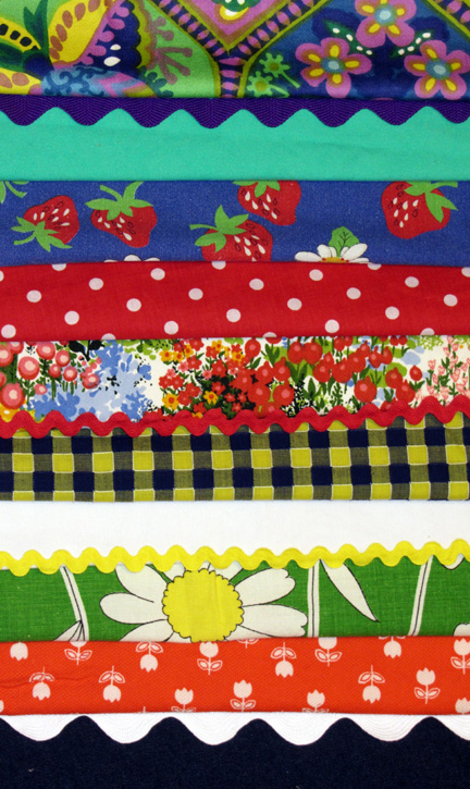 fun vintage fabric for skirts