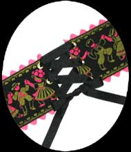 black forest lace-up belt