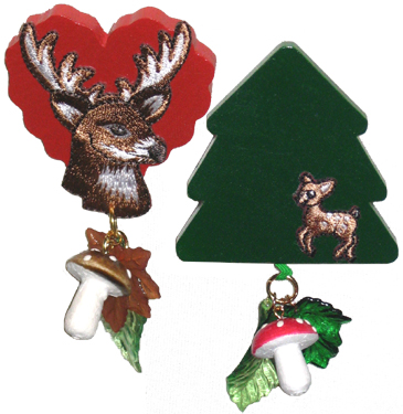 deer brooches