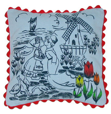 dutch treat pillow cover