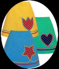 happy applique skirt