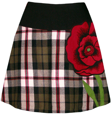 plaid poppy skirt