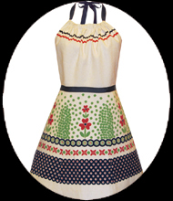 polish pottery full apron