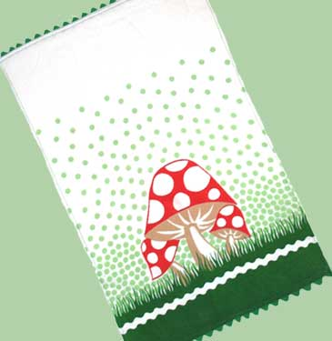 toadstool tea towel!